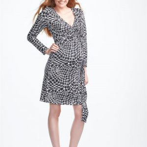 Senia Long Sleeve Maternity Wrap Dress