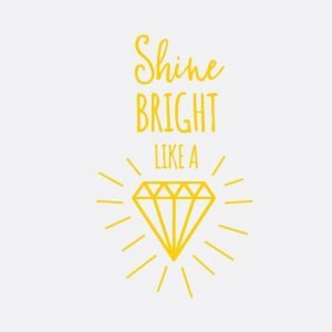 Shine Bright Wall Letter Quote