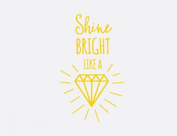 Shine Bright Wall Letter Quote