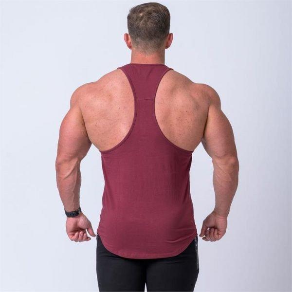 Signature Y Back Singlet - Burgundy - XL