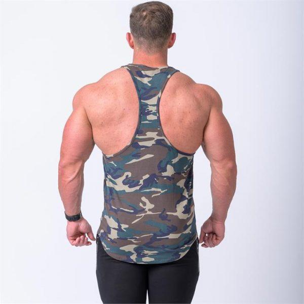 Signature Y Back Singlet - Camo - XXXL