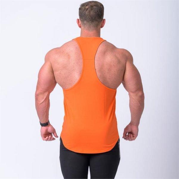 Signature Y Back Singlet - Orange - M