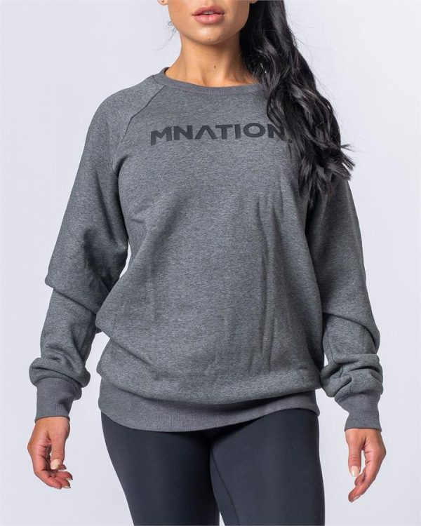 Slouchy Jumper - Charcoal - M