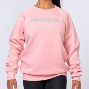 Slouchy Jumper - Pink - L