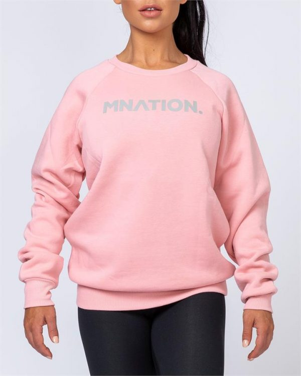 Slouchy Jumper - Pink - XL