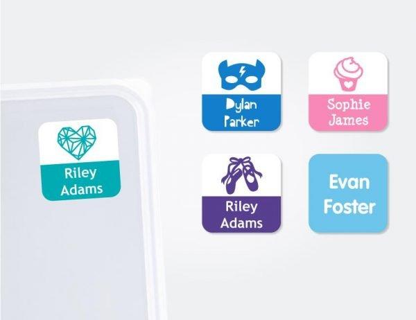 Small Square Labels