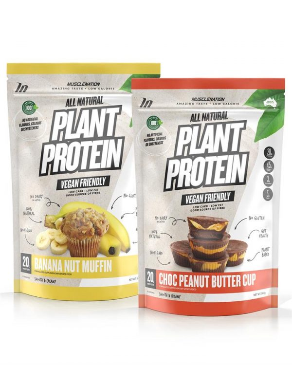 TWIN PACK - 100% Natural Plant Based Protein - Select Flavour 1