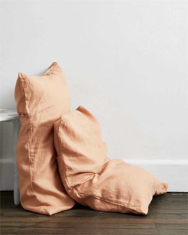 Terracotta 100% Flax Linen Pillowcases (Set of Two) - Bed Threads