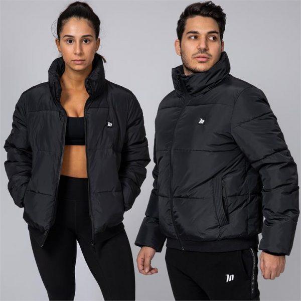 Unisex Puffer Jacket - Black - XXL