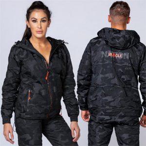Unisex Tracksuit Jacket - Black Camo - XL