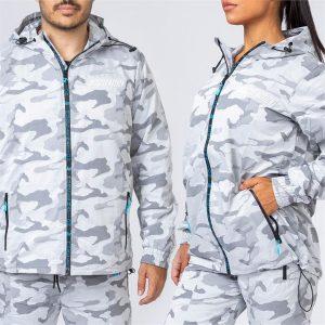 Unisex Tracksuit Jacket - Snow Camo - XXL