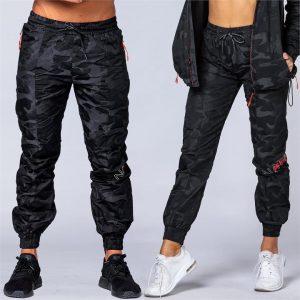 Unisex Tracksuit Pants - Black Camo - XL