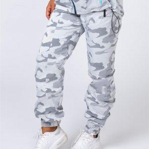 Unisex Tracksuit Pants - Snow Camo - S