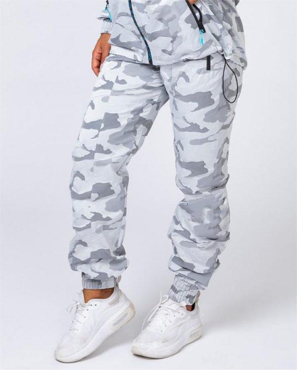 Unisex Tracksuit Pants - Snow Camo - XL