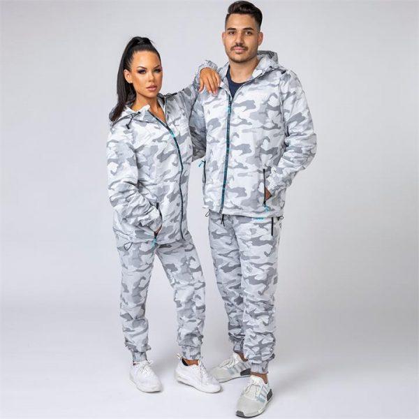 Unisex Tracksuit Set - Snow Camo - Unisex Jacket