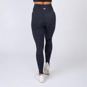 V2 Butter Leggings - Black Grey Leopard - XL