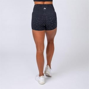 V2 Butter Shorts - Black Grey Leopard - L
