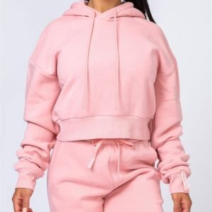 Warm-Up Cropped Hoodie - Pink - L