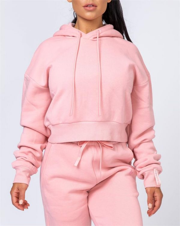 Warm-Up Cropped Hoodie - Pink - S