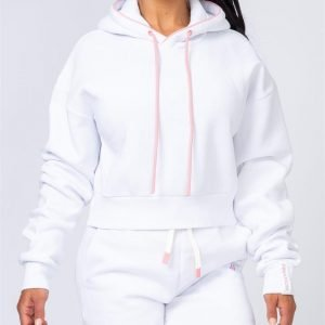 Warm-Up Cropped Hoodie - White - XXL