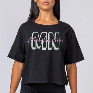 Womens Casual MNxSignature Tee - Black - XL