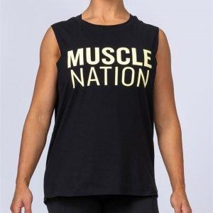 Womens Classic Muscle Tank - Black - L