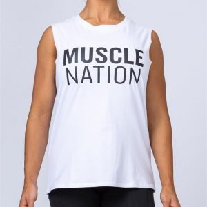 Womens Classic Muscle Tank - White - S