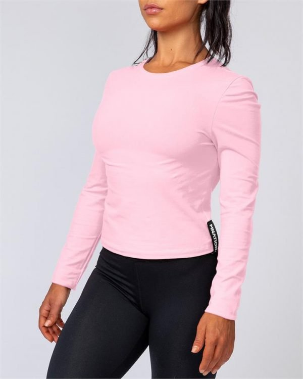 Womens Long Sleeve - Pink Sherbet - S