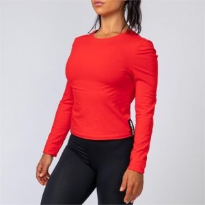 Womens Long Sleeve - Red - S