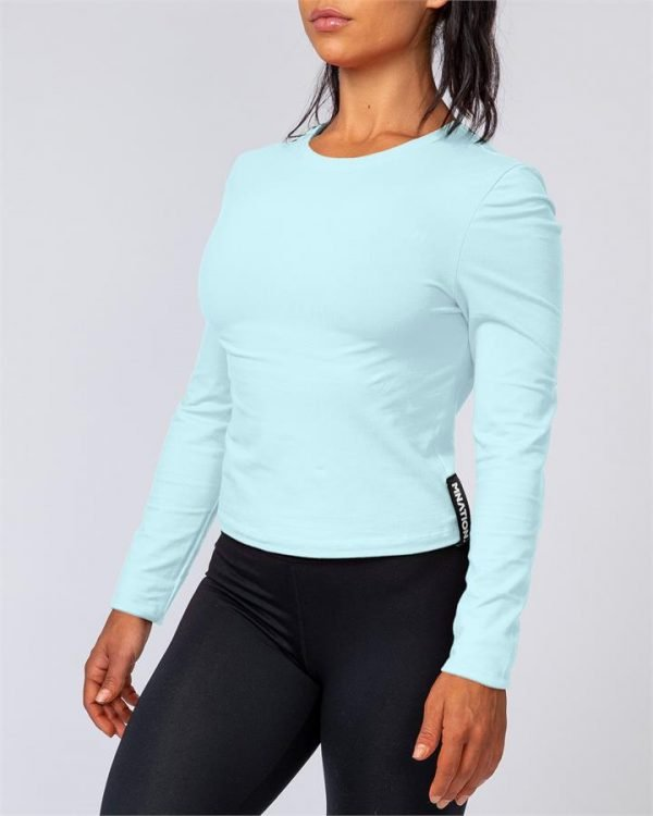 Womens Long Sleeve - Sky Blue - XL
