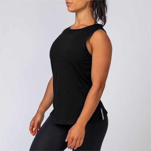Womens Muscle Tank - Black - XS