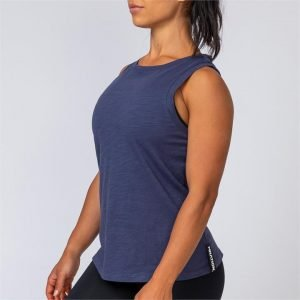 Womens Muscle Tank - Navy - S