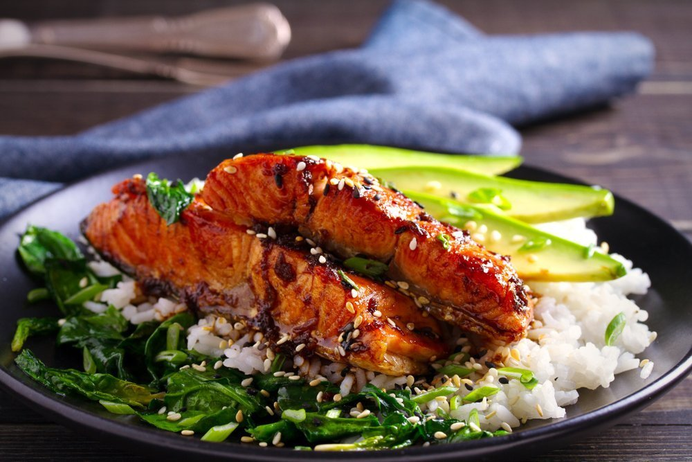 Honey And Garlic Glazed Salmon