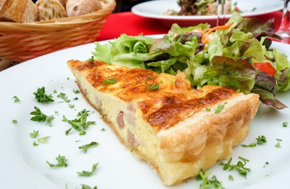 Crustless Cheesy Quiche With Sausage, Bacon, and Ham What To Serve With The Quiche