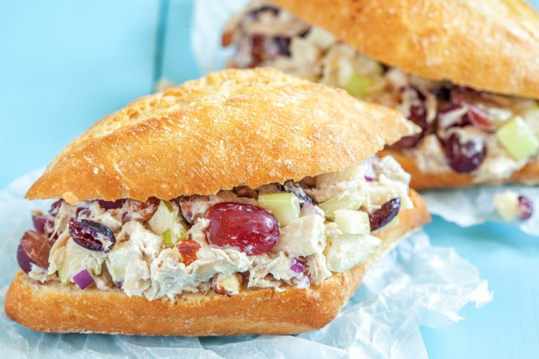 Greek Yogurt, Chicken And Cranberry Sandwich