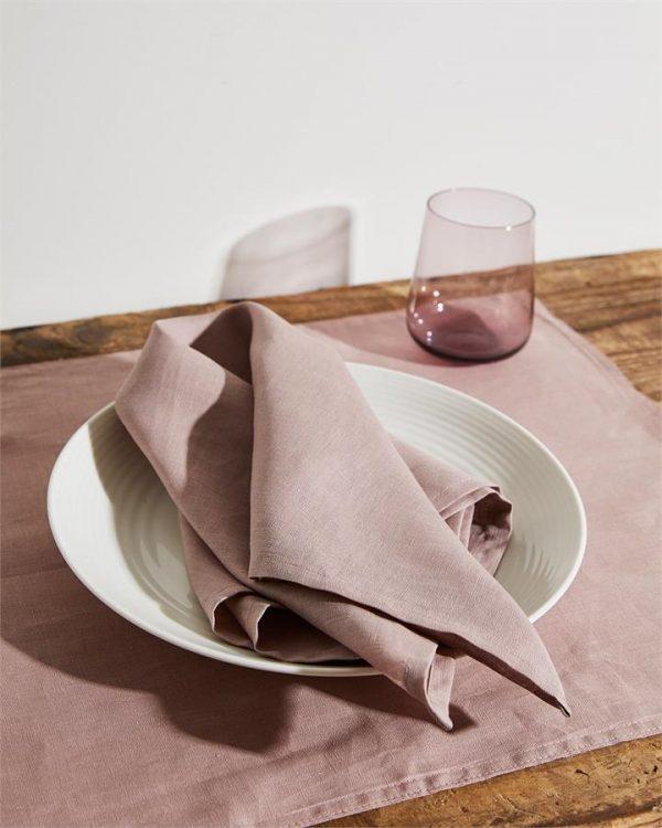 100% Linen Napkins in Lavender (Set of Four) - Bed Threads
