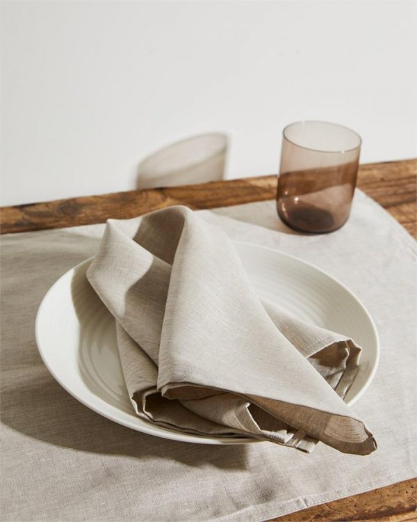 100% Linen Napkins in Oatmeal (Set of Four) - Bed Threads