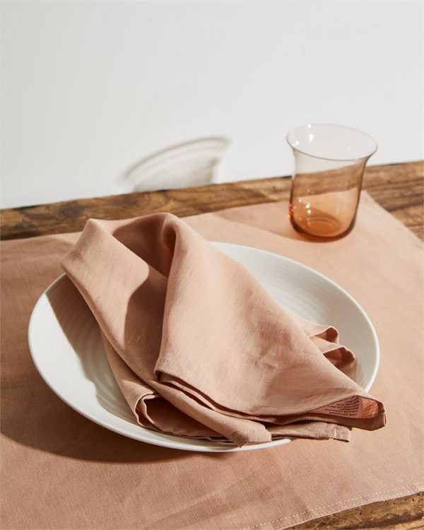 100% Linen Napkins in Terracotta (Set of Four) - Bed Threads