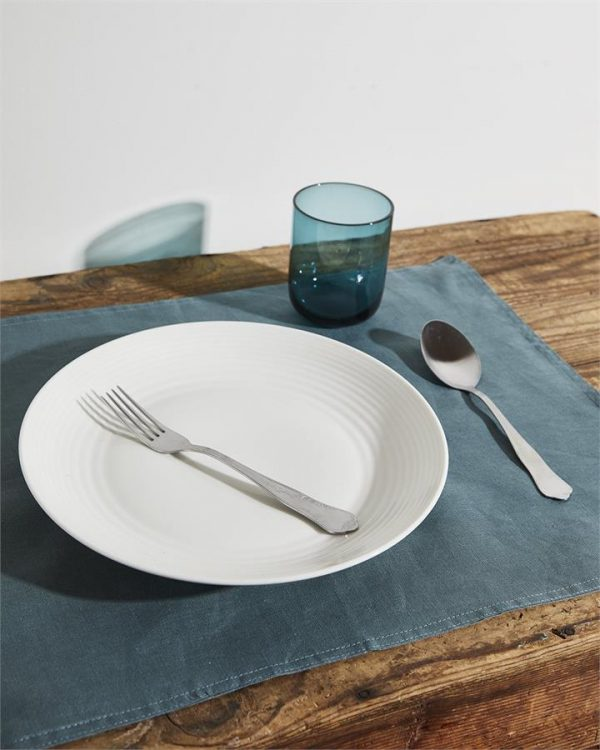 100% Linen Placemats in Petrol (Set of Four) - Bed Threads