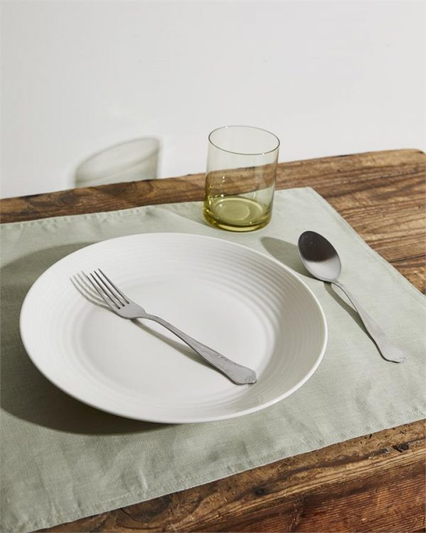 100% Linen Placemats in Sage (Set of Four) - Bed Threads