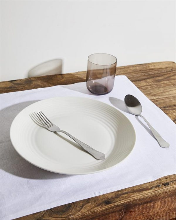 100% Linen Placemats in White (Set of Four) - Bed Threads