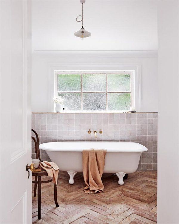 100% Linen Waffle Bath Towel in Terracotta - Bed Threads