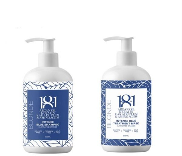 18 In 1 Blonde Intense Blue Shampoo and Treatment Mask 500ml Duo Pack