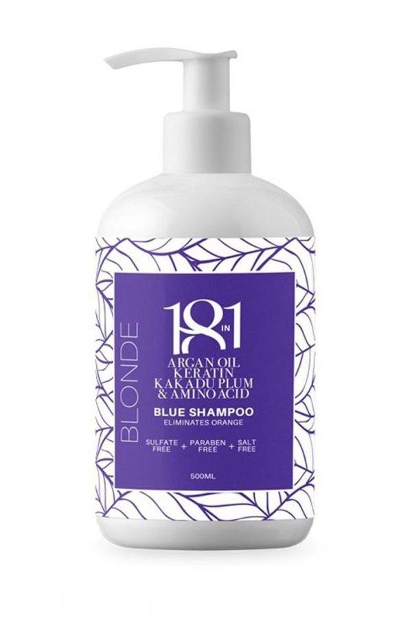 18 in 1 Blonde Blue Shampoo 500ml