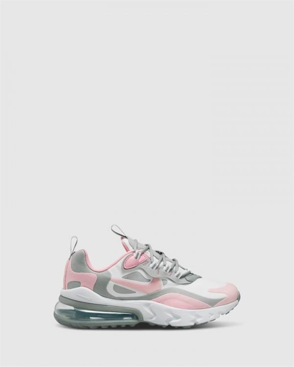 Air Max 270 React Gs G White/Pink/Grey