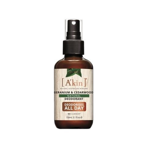 A'kin Geranium & Cedarwood Natural Deodorant Spray 150ml
