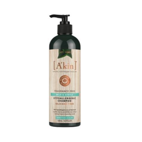 A'kin Mild & Gentle Fragrance Free Shampoo 500ml