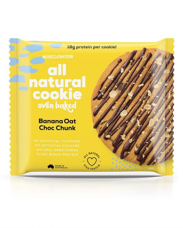 All Natural Protein Cookie - BOX OF 10 - BANANA OAT CHOC CHUNK