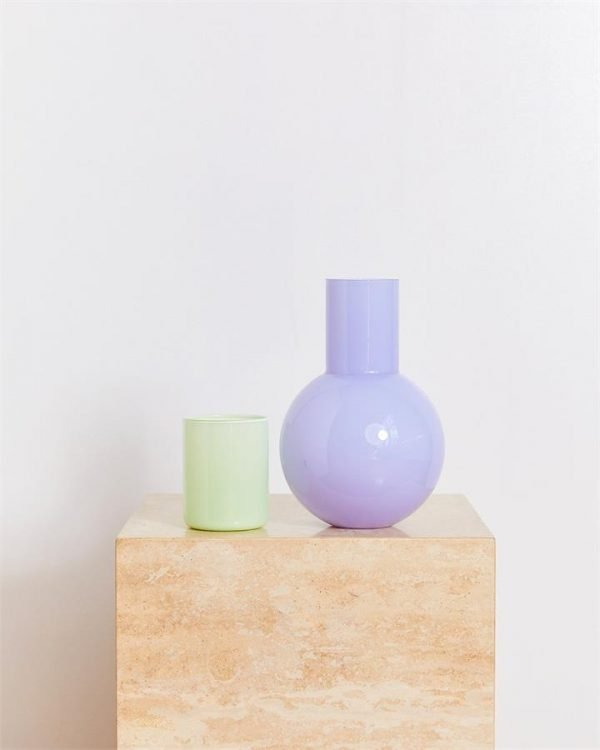 Anna Karlin Bedside Carafe in Lavender & Mint - Bed Threads