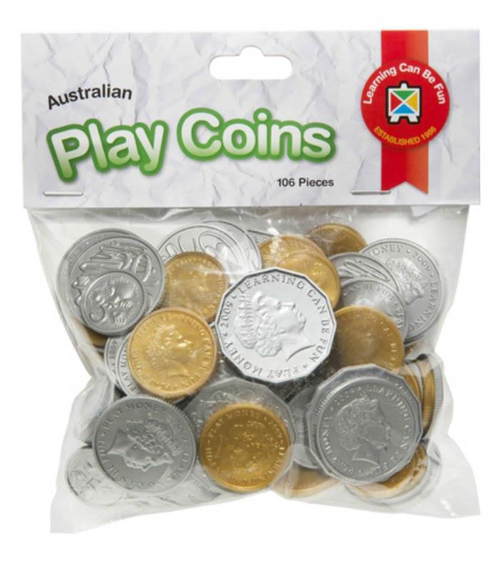 Australian Money Play Coins 106pcs